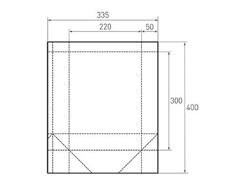 Штамп для вырубки вертикального бумажного пакета v 220-300-100 (1 шт. на штампе). Привью 500x375 пикселов.