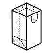 Штамп для вырубки вертикального бумажного пакета под бутылку v 220-330-220. Привью 110x110 пикселов.