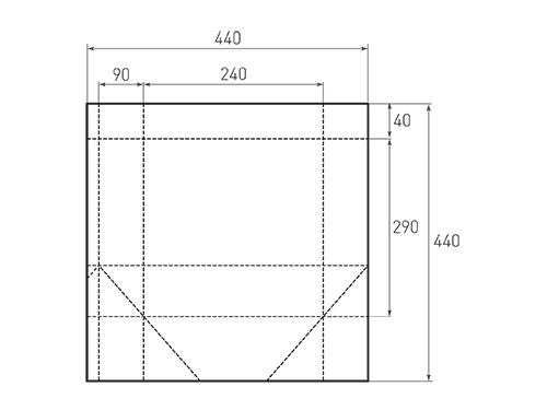 Штамп для вырубки вертикального бумажного пакета v 240-290-180 (1 шт. на штампе). Привью 500x375 пикселов.