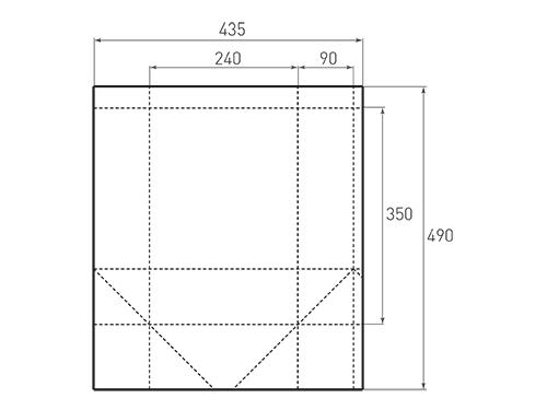 Штамп для вырубки вертикального бумажного пакета v 240-350-180 (1 шт. на штампе). Привью 500x375 пикселов.