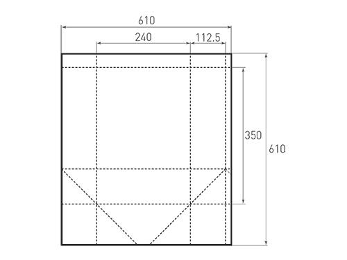 Штамп для вырубки вертикального бумажного пакета v 240-350-225 (1 шт. на штампе). Привью 500x375 пикселов.