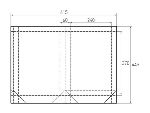 Штамп для вырубки вертикального бумажного пакета v 240-370-60 (1 шт. на штампе). Привью 500x375 пикселов.