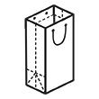 Штамп для вырубки вертикального бумажного пакета V 240-375-120 (1 шт. на штампе). Привью 110x110 пикселов.