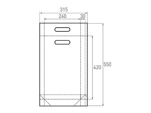 Штамп для вырубки вертикального бумажного пакета v 240-420-60 ручки (1 шт. на штампе). Привью 500x375 пикселов.