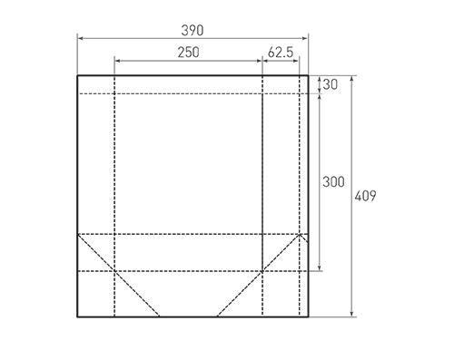 Штамп для вырубки вертикального бумажного пакета v 250-300-125 (1 шт. на штампе). Привью 500x375 пикселов.