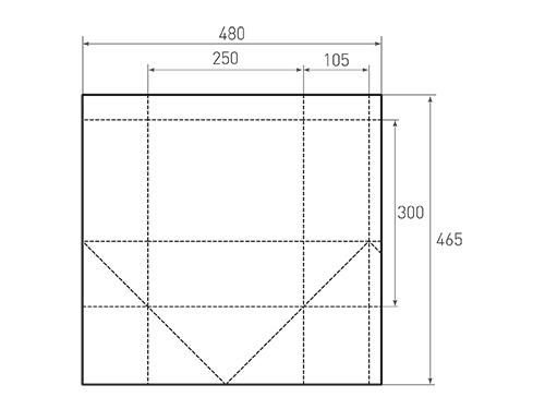 Штамп для вырубки вертикального бумажного пакета v 250-300-210 (1 шт. на штампе). Привью 500x375 пикселов.