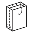 Штамп для вырубки вертикального бумажного пакета v 250-310-90 (1 шт. на штампе). Привью 110x110 пикселов.