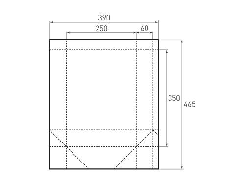 Штамп для вырубки вертикального бумажного пакета v 250-350-120 (1 шт. на штампе). Привью 500x375 пикселов.