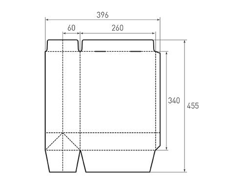 Штамп для вырубки вертикального бумажного пакета v 260-340-120 (1 шт. на штампе). Привью 500x375 пикселов.