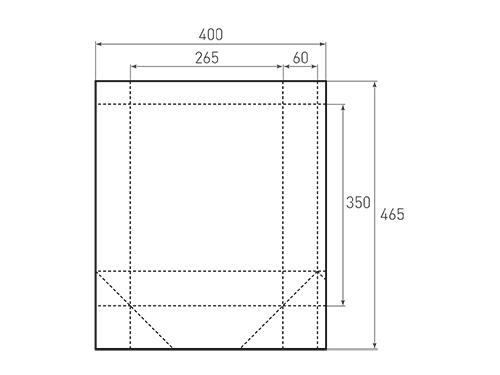 Штамп для вырубки вертикального бумажного пакета v 265-350-120 (1 шт. на штампе). Привью 500x375 пикселов.
