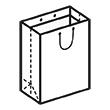 Штамп для вырубки вертикального бумажного пакета v 280-350-150 (1 шт. на штампе). Привью 110x110 пикселов.