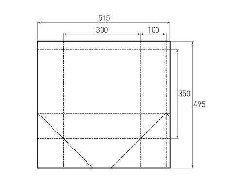 Штамп для вырубки вертикального бумажного пакета v 300-350-200 (1 шт. на штампе). Привью 500x375 пикселов.