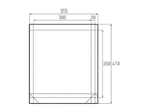 Штамп для вырубки вертикального бумажного пакета v 300-350-40 (1 шт. на штампе). Привью 500x375 пикселов.