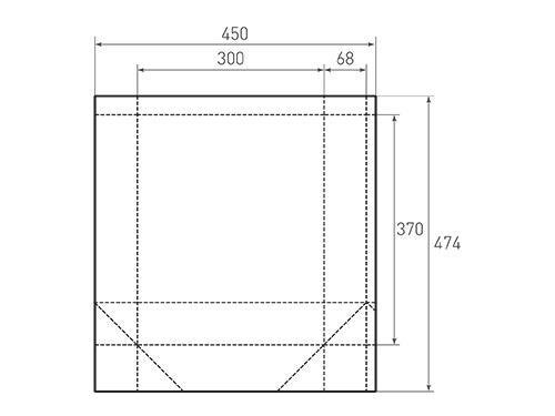 Штамп для вырубки вертикального бумажного пакета v 300-370-136 (1 шт. на штампе). Привью 500x375 пикселов.