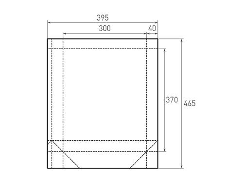 Штамп для вырубки вертикального бумажного пакета v 300-370-80 (1 шт. на штампе). Привью 500x375 пикселов.