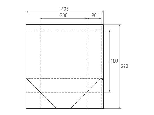 Штамп для вырубки вертикального бумажного пакета v 300-400-180 (1 шт. на штампе). Привью 500x375 пикселов.