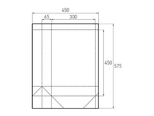 Штамп для вырубки вертикального бумажного пакета v 300-450-130 (1 шт. на штампе). Привью 500x375 пикселов.