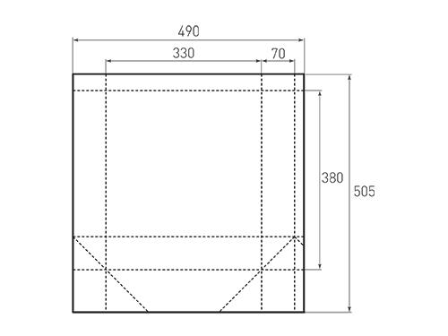 Штамп для вырубки вертикального бумажного пакета v 330-380-140 (1 шт. на штампе). Привью 500x375 пикселов.