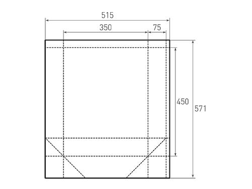 Штамп для вырубки вертикального бумажного пакета v 350-450-150 (1 шт. на штампе). Привью 500x375 пикселов.