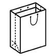 Штамп для вырубки вертикального бумажного пакета v 350-500-230 (1 шт. на штампе). Привью 110x110 пикселов.