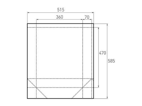 Штамп для вырубки вертикального бумажного пакета v 360-470-140 (1 шт. на штампе). Привью 500x375 пикселов.
