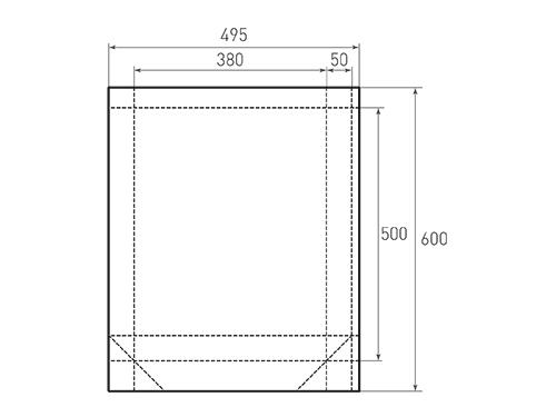 Штамп для вырубки вертикального бумажного пакета v 380-500-100 (1 шт. на штампе). Привью 500x375 пикселов.
