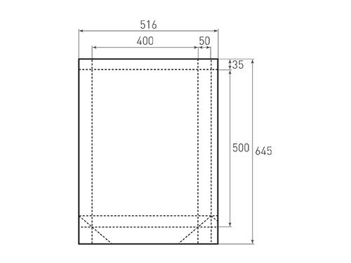 Штамп для вырубки вертикального бумажного пакета v 400-500-100 (1 шт. на штампе). Привью 500x375 пикселов.