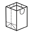 Штамп для вырубки вертикального бумажного пакета v 450-500-340 (1 шт. на штампе). Привью 110x110 пикселов.
