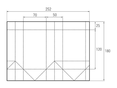 Штамп для вырубки вертикального бумажного пакета v 70-120-50 (1 шт. на штампе). Привью 500x375 пикселов.