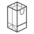 Штамп для вырубки вертикального бумажного пакета под бутылку v 90-150-90. Привью 110x110 пикселов.