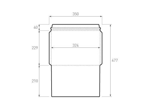 Штамп для вырубки горизонтального конверта C4 kg 324x229 курьерский зиг(1 шт. на штампе). Привью 500x375 пикселов