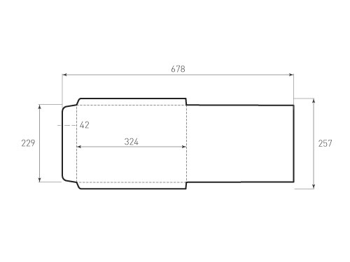 Штамп для вырубки вертикального конверта c4 kv 229x324 (1 шт. на штампе). Привью 500x375 пикселов