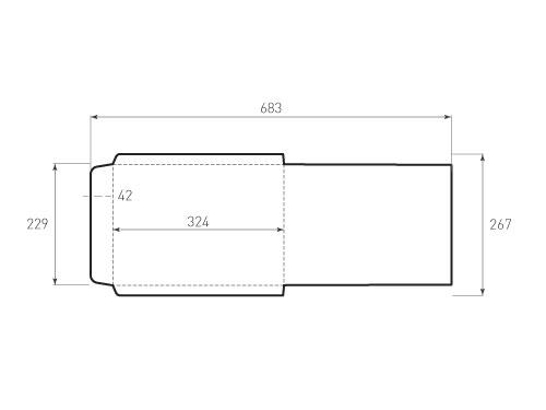 Штамп для вырубки вертикального конверта c4 kv 229x324 тонкая бумага (1 шт. на штампе). Привью 500x375 пикселов