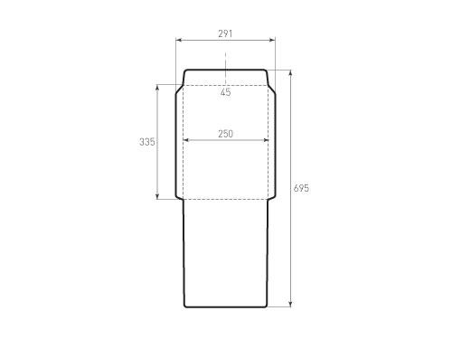 Штамп для вырубки вертикального конверта c4 kv 250x335 (1 шт. на штампе). Привью 500x375 пикселов