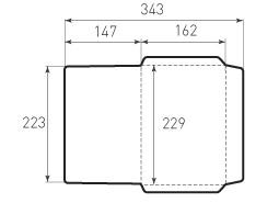 Конверт C5 Горизонтальный 229x162
