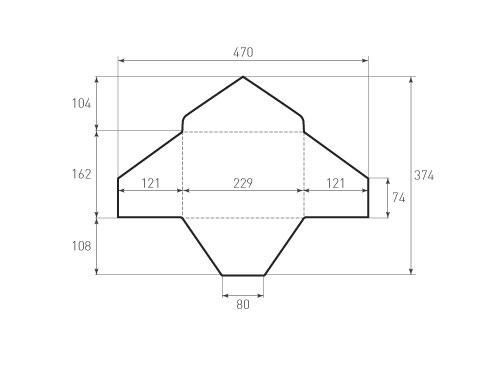 Штамп для вырубки горизонтального конверта c5 kg 229x162 (1 шт. на штампе). Привью 500x375 пикселов