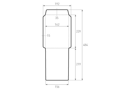 Штамп для вырубки вертикального конверта c5 kv 162x229 для индиго (1 шт. на штампе). Привью 500x375 пикселов