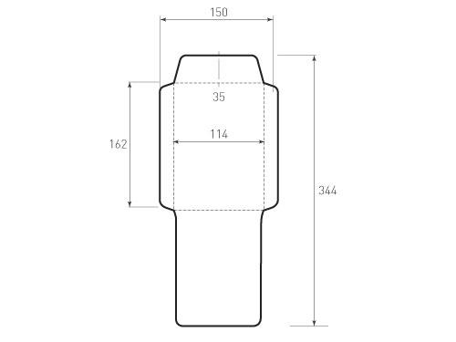 Штамп для вырубки вертикального конверта С6 KV 114x162 (1 шт. на штампе). Привью 500x375 пикселов