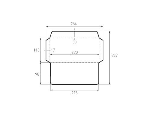 Штамп для вырубки горизонтального евро конверта kg 220x110 (1 шт. на штампе). Привью 500x375 пикселов