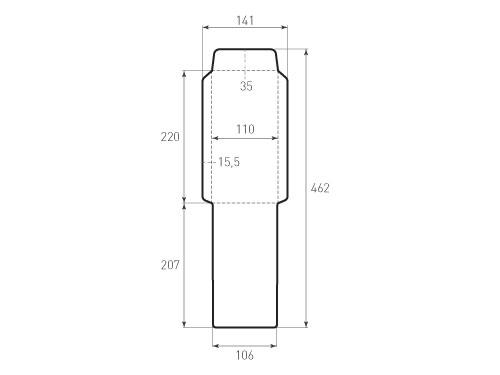 Штамп для вырубки вертикального евро конверта kv 110x220 (1 шт. на штампе). Привью 500x375 пикселов