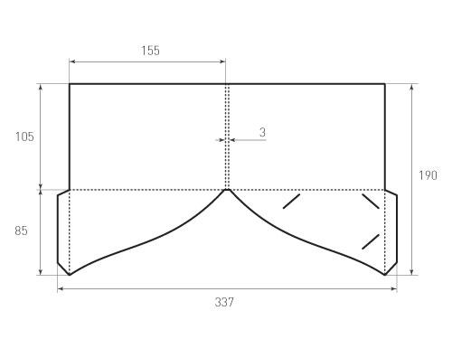 Штамп для вырубки папки фс 155x105x3 с 2-мя карманами. Привью 500х375 пикселов