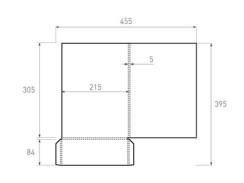 Штамп для вырубки папки фс 215x305x5. Привью 500x375 пикселов.