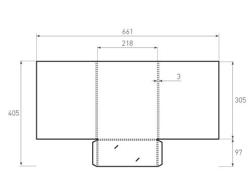 Штамп для вырубки папки фс 218x305x3. Привью 500x375 пикселов.