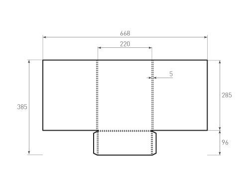 Штамп для вырубки папки фс 220x285x5. Привью 500x375 пикселов.