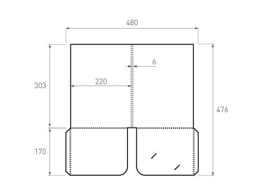 Штамп для вырубки папки фс 220x303x06. Привью 500x375 пикселов.