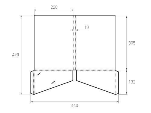 Штамп для вырубки папки фс 220x305x10 2 кармана. Привью 500x375 пикселов.