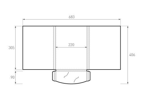 Штамп для вырубки папки фс 220x305x14 клапан. Привью 500x375 пикселов.