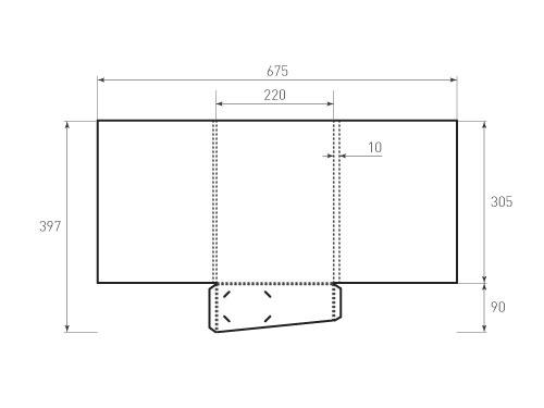 Штамп для вырубки папки фс220x305x10 клапан. Привью 500x375 пикселов.