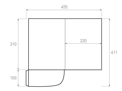 Штамп для вырубки папки фс 220x310. Привью 500x375 пикселов.