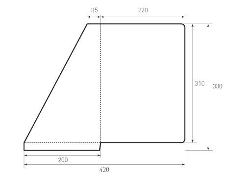 Штамп для вырубки папки фс 220x310 угол. Привью 500x375 пикселов.